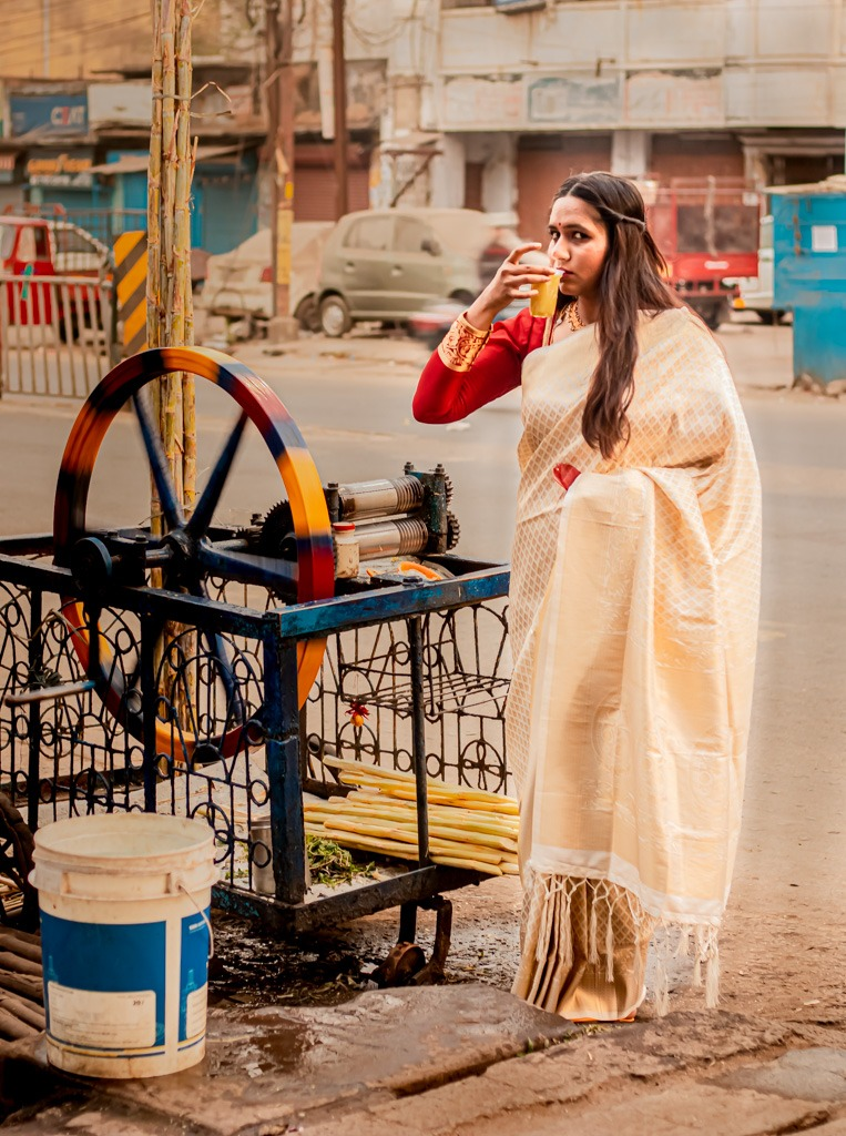 shot on the road, bengali style saree, wear your style, bong saree